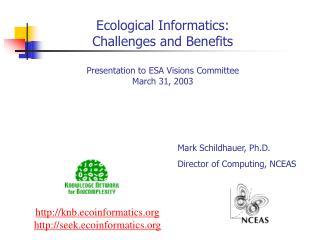 knb.ecoinformatics seek.ecoinformatics