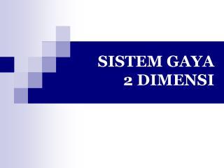 SISTEM GAYA  2 DIMENSI