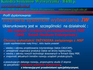 Inżynieria systemów wytwarzania  IW