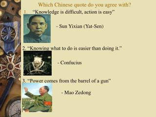 Which Chinese quote do you agree with?