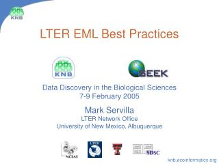 LTER EML Best Practices