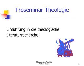 Einführung in die theologische  Literaturrecherche