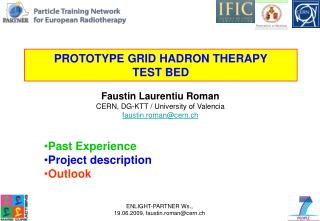 PROTOTYPE GRID HADRON THERAPY TEST BED
