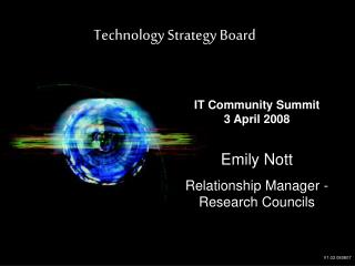 Emily Nott Relationship Manager -  Research Councils