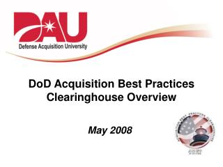 DoD Acquisition Best Practices Clearinghouse Overview