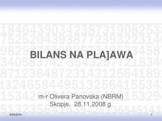 BILANS NA PLA]AWA
