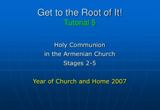 Get to the Root of It! Tutorial 5