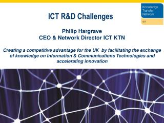 ICT R&D Challenges
