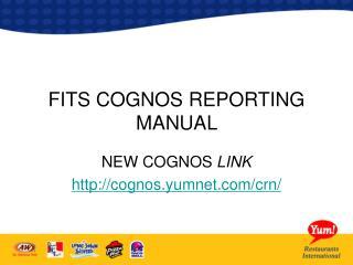 FITS COGNOS REPORTING MANUAL