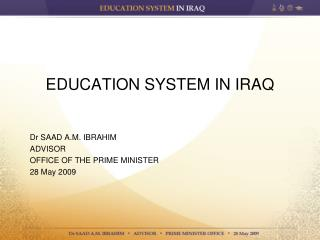 EDUCATION SYSTEM IN IRAQ