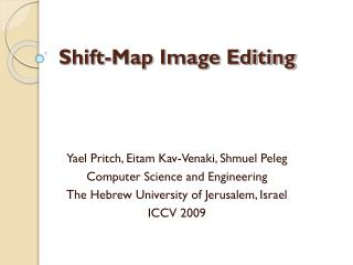 Shift-Map Image Editing