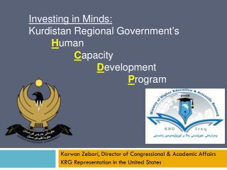 Karwan Zebari, Director of Congressional & Academic Affairs