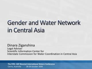 Gender and Water Network in Central Asia