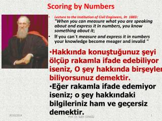 Scoring  by Numbers
