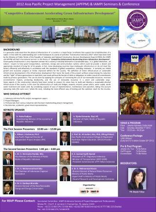 2012 Asia  Pasific  Project Management (APFPM) & IAMPI Seminars &  Conference