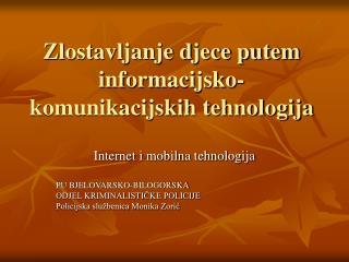 Zlostavljanje djece putem informacijsko-komunikacijskih tehnologija