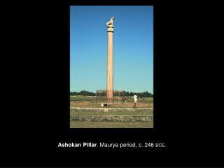 Ashokan Pillar . Maurya period, c. 246  BCE .