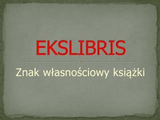 EKSLIBRIS