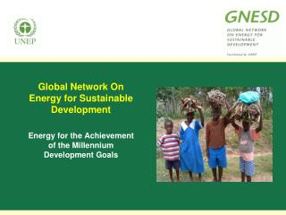 Global Network On Energy for Sustainable Development