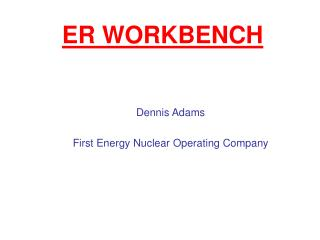 ER WORKBENCH