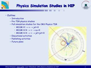 Physics Simulation Studies in HIP