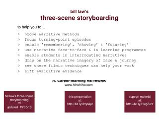Bill law s three-scene storyboarding
