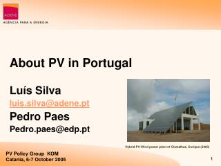 About PV in Portugal