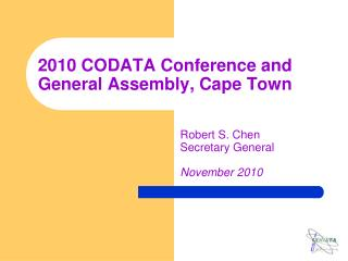 2010 CODATA Conference and General Assembly, Cape Town