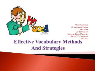 Effective Vocabulary Methods  And Strategies