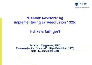 Implementering av Resolusjon 1325