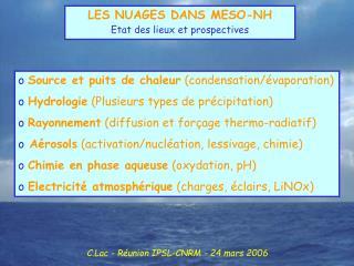 C.Lac - Réunion IPSL-CNRM - 24 mars 2006