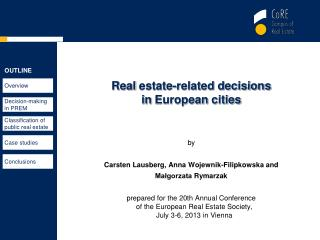 Real  estate-related decisions  in  European  cities