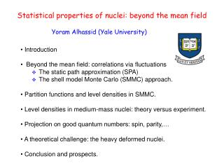 Statistical properties of nuclei: beyond the mean field