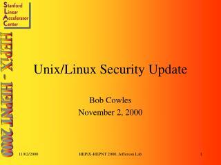 Unix/Linux Security Update