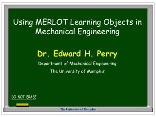 Using MERLOT Learning Objects in Mechanical Engineering