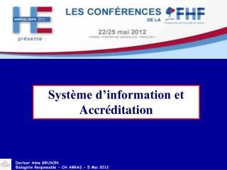 Système d'information et Accréditation
