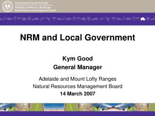 NRM and Local Government