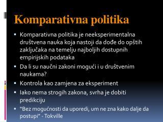 Komparativna politika