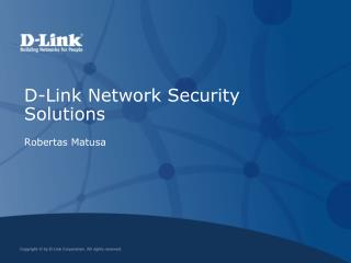 D-Link Network Security Solutions