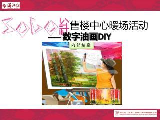 售楼中心暖场活动 ——  数字油画 DIY