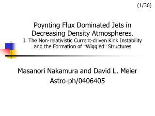 Masanori Nakamura and David L. Meier Astro-ph/0406405