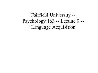 Language Development: a system of symbols