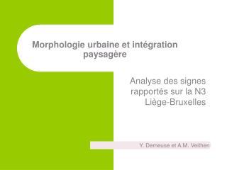 Morphologie urbaine et intégration paysagère