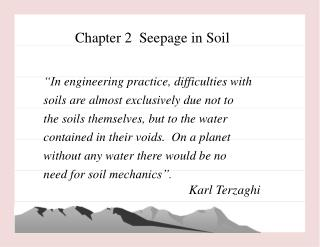 Chapter 2  Seepage in Soil