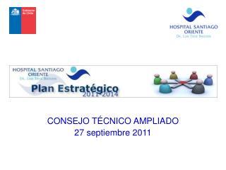 CONSEJO TÉCNICO AMPLIADO 27 septiembre 2011