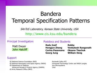 Bandera  Temporal Specification Patterns
