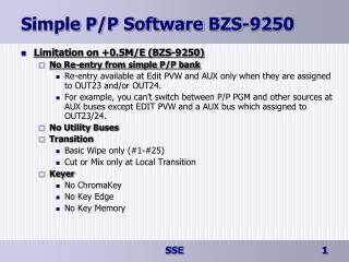 Simple P/P Software BZS-9250