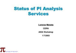 Status of PI Analysis  Services