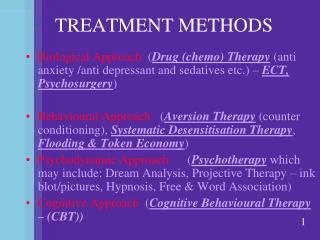 TREATMENT METHODS