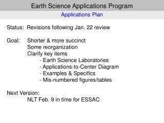 Earth Science Applications Program